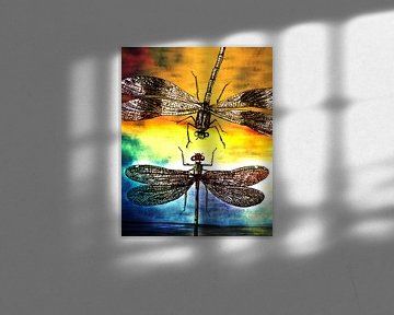 Dragonfly meets a Friend van Pia Schneider