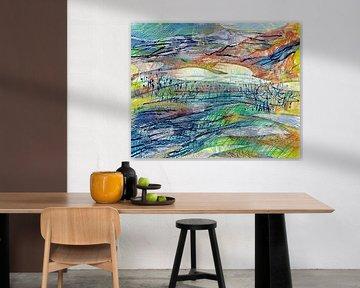 Abstract landschap van ART Eva Maria