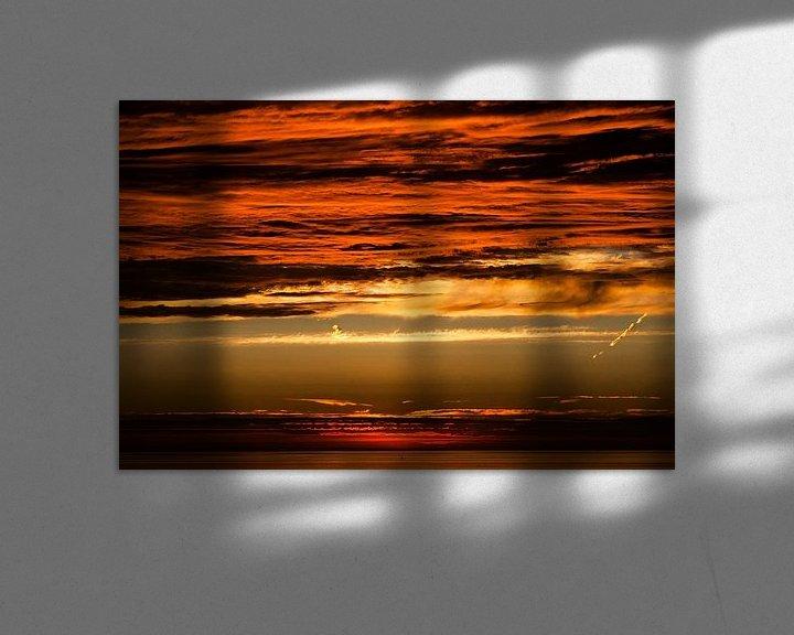 Sfeerimpressie: Zonsondergang met prachtige kleuren van Anita Hermans