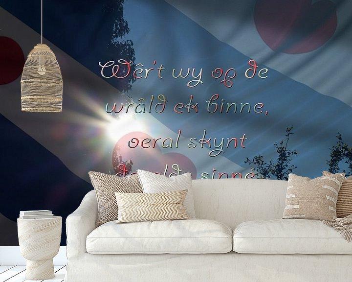 Sfeerimpressie behang: Fryske spreuken - Friese spreuken of teksten van Fotografie Sybrandy