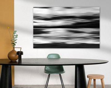 Zwart wit abstracte schilderij van Jan Brons