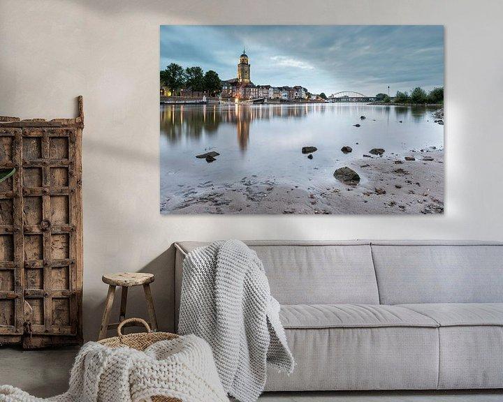 Sfeerimpressie: Zonsondergang Deventer van Martin Winterman