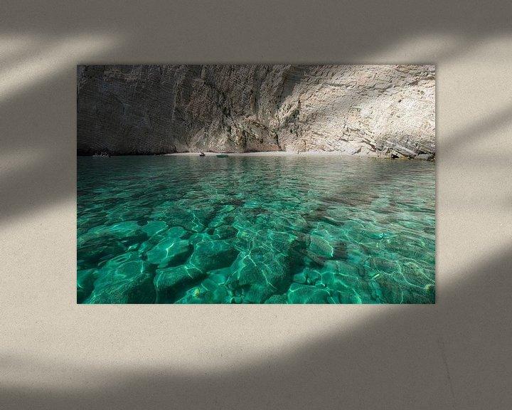 Sfeerimpressie: Blauwe grotten Zakynthos van Ruud van der Lubben