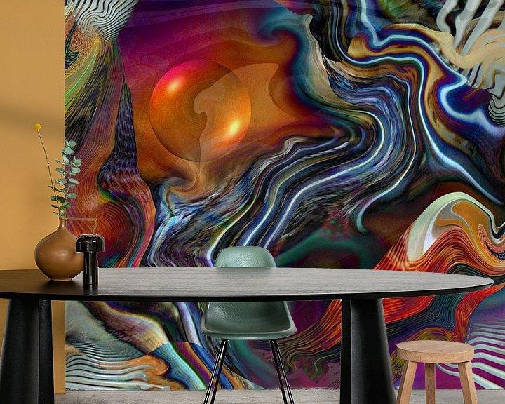 Sfeerimpressie behang: Fantastische Welten van Heidrun Carola Herrmann
