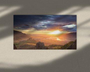 Valahnùkur Sonnenuntergang von Sander van der Werf