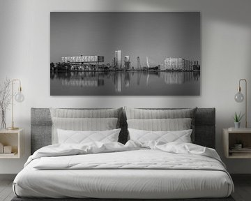 Rotterdam skyline in black&white