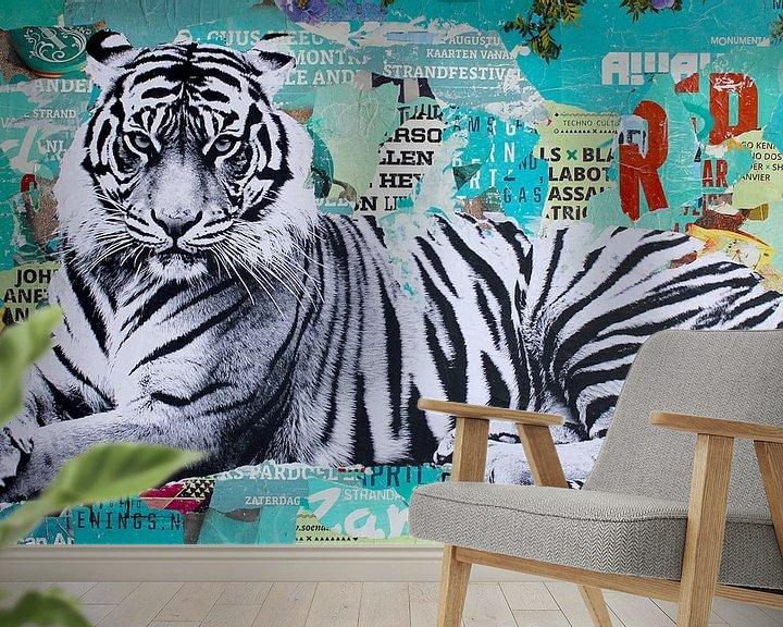 Sfeerimpressie behang: Tigerstyle  van Michiel Folkers