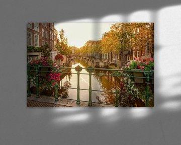 Leiden in de herfst van Dirk van Egmond