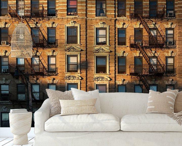 Sfeerimpressie behang: Karakteristieke gevel New York City van JPWFoto