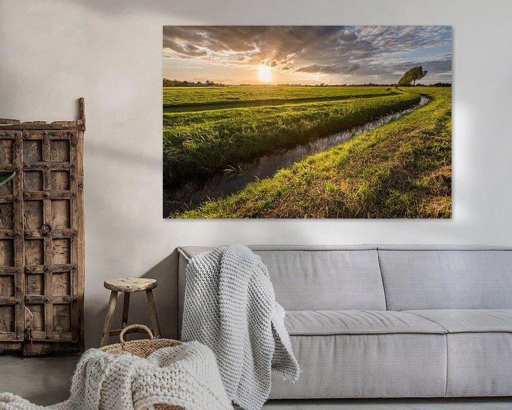 Sfeerimpressie: Spetterende zonsondergang van John Verbruggen