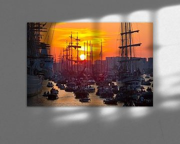 Sonnenuntergang während Sail Amsterdam