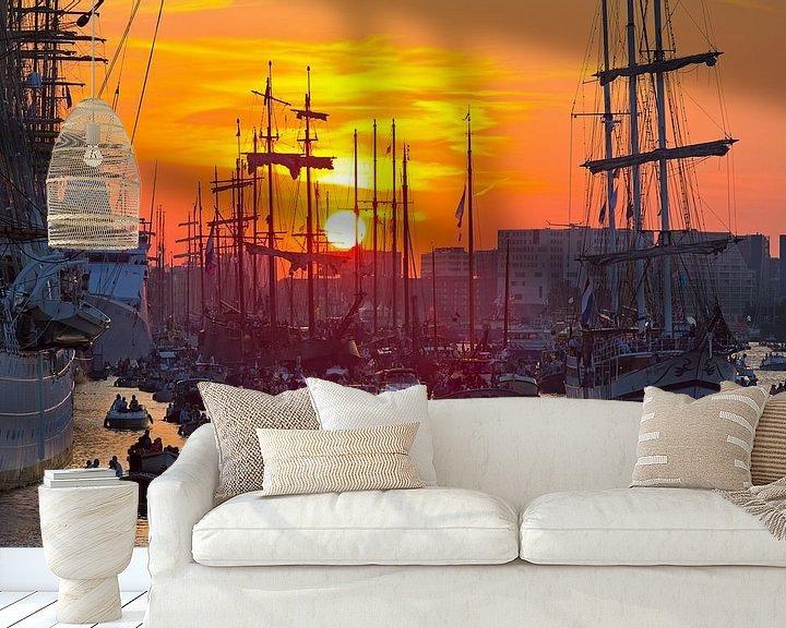Sfeerimpressie behang: Sail Amsterdam van Anton de Zeeuw