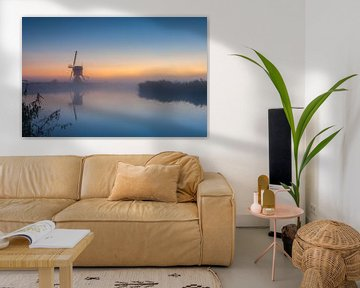 Misty sunrise at the windmill