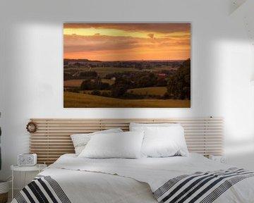 Zonsondergang boven Vijlen in Zuid-Limburg