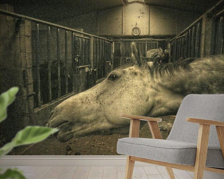 Sfeerimpressie behang: Hi There van Wilfried van Dokkumburg