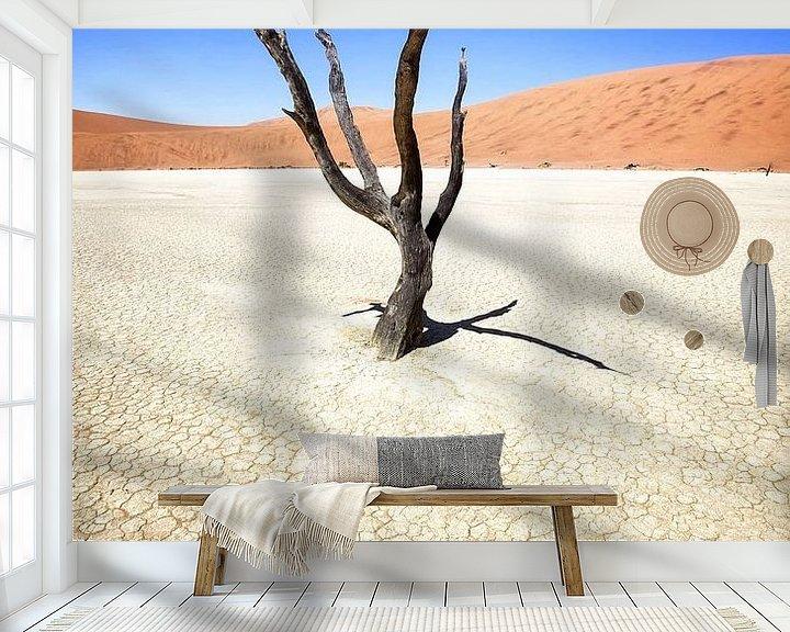 Sfeerimpressie behang: Deadvlei in Sossusvlei, Namibia van Fotografie Egmond