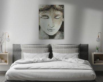 Gesicht III von Linda Dammann