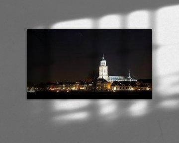 Deventer by night (2) van Eddo Kloosterman