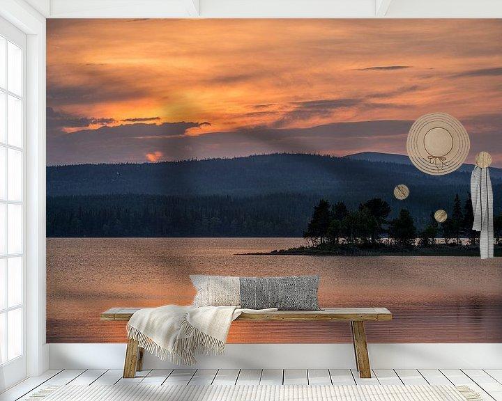Sfeerimpressie behang: Zonsondergang van Sander Strijdhorst