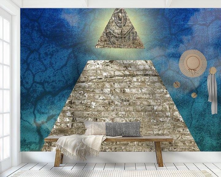 Beispiel fototapete: Piramide met alziend oog von Artstudio1622