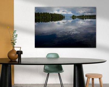 Dreigende lucht in Zweden van Heleen Klop