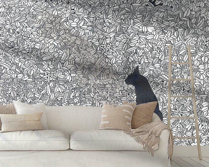 Sfeerimpressie behang: And the spider van Yvonne Jansen