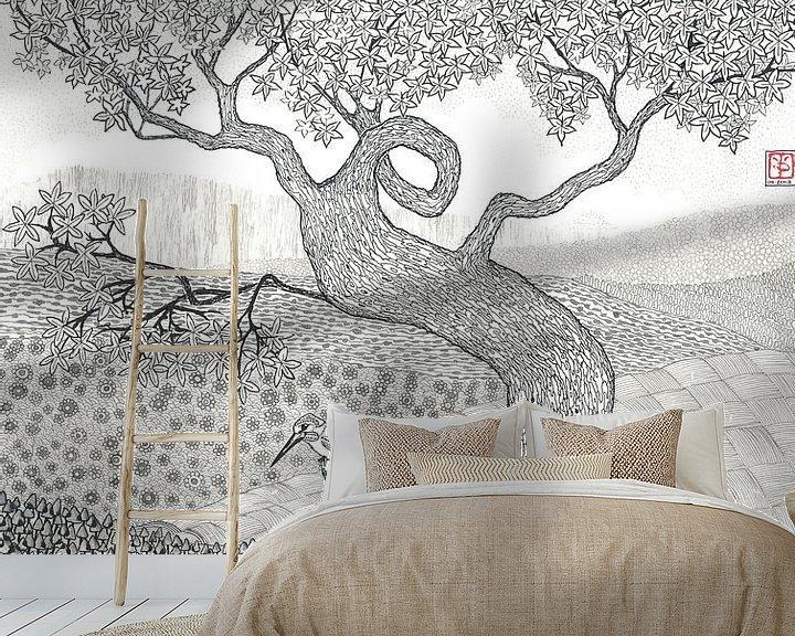 Sfeerimpressie behang: IJsvogeltje van Yvonne Jansen