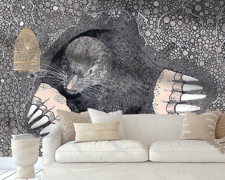 Sfeerimpressie behang: Molletje van Yvonne Jansen