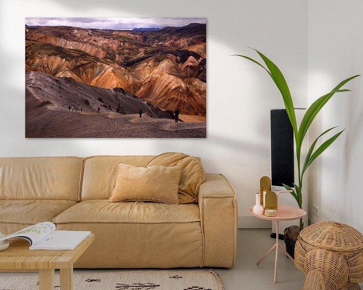 Sfeerimpressie: Colours of Landmannalaugar van Damien Franscoise