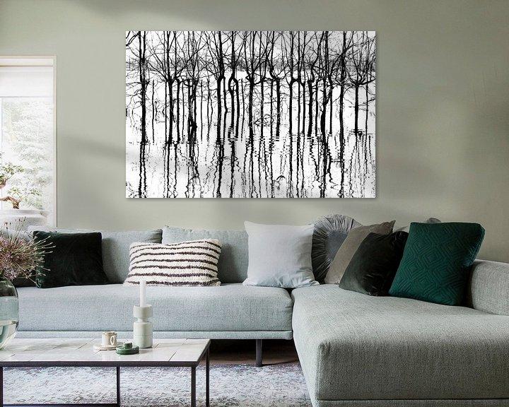 Sfeerimpressie: A bunch of black lines van Harald Harms