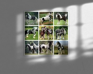 collage zwartbonte paarden von Marja Hoebe