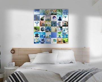 collage badkamer von Marja Hoebe