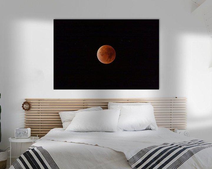 Sfeerimpressie: Rode supermaan maansverduistering van Roque Klop