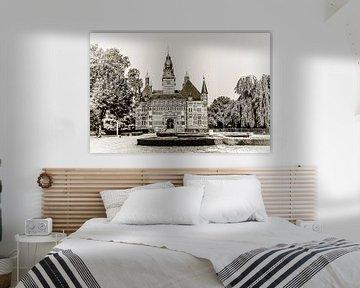 Kasteel Wijchen in zwart/wit van Fotografie Jeronimo