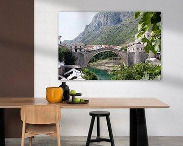 De brug 'Stari Most' in Bosnië van Sander Meijering