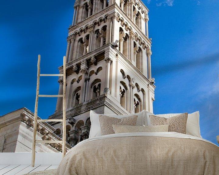 Sfeerimpressie behang: Toren van Split in Kroatië van Sander Meijering