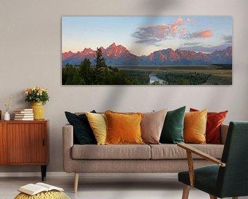 Zonsopkomst boven Grand Teton N.P. van Antwan Janssen
