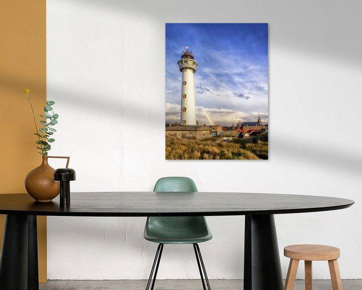 Sfeerimpressie: Regenboog achter vuurtoren Egmond aan Zee van Fotografie Egmond