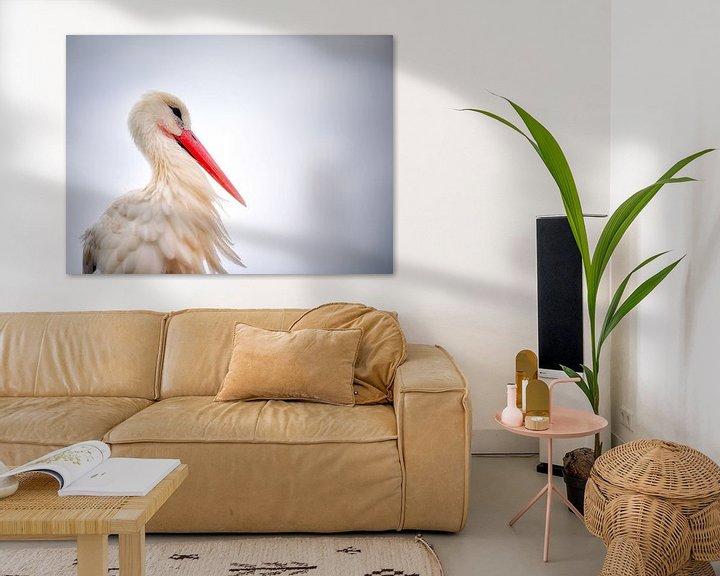 Sfeerimpressie: Portret van een ooievaar van Fotografie Egmond