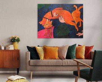 Jumping cat von Amber van den Broek
