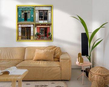 Collage van antieke Franse winkelpuien (type B) von Gert van Santen