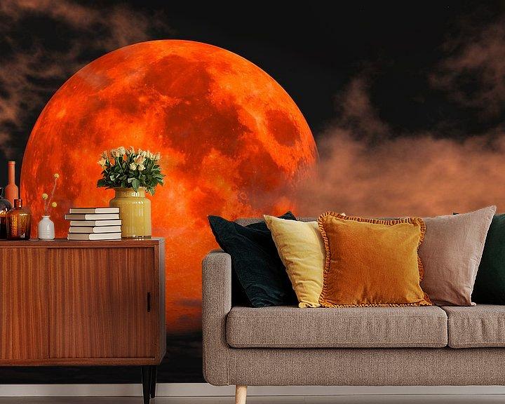 Beispiel fototapete: Blutmond - totale Mondfinsternis von Max Steinwald