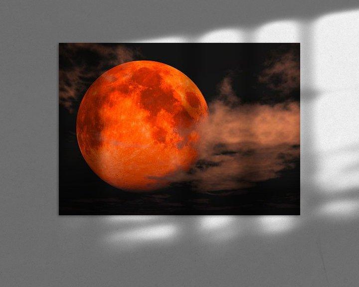 Beispiel: Blutmond - totale Mondfinsternis von Max Steinwald