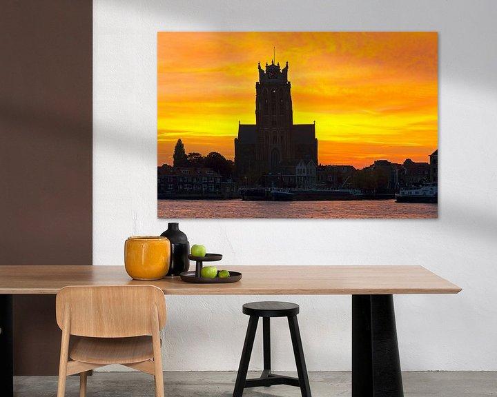 Impression: Sunrise Grande Église à Dordrecht sur Anton de Zeeuw
