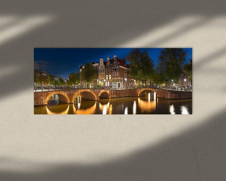 Sfeerimpressie: Panorama Grachten Amsterdam van Anton de Zeeuw