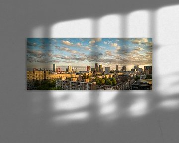Skyline Rotterdam Zonsondergang sur Mark De Rooij
