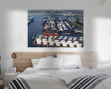 Luchtfoto haven van Amsterdam