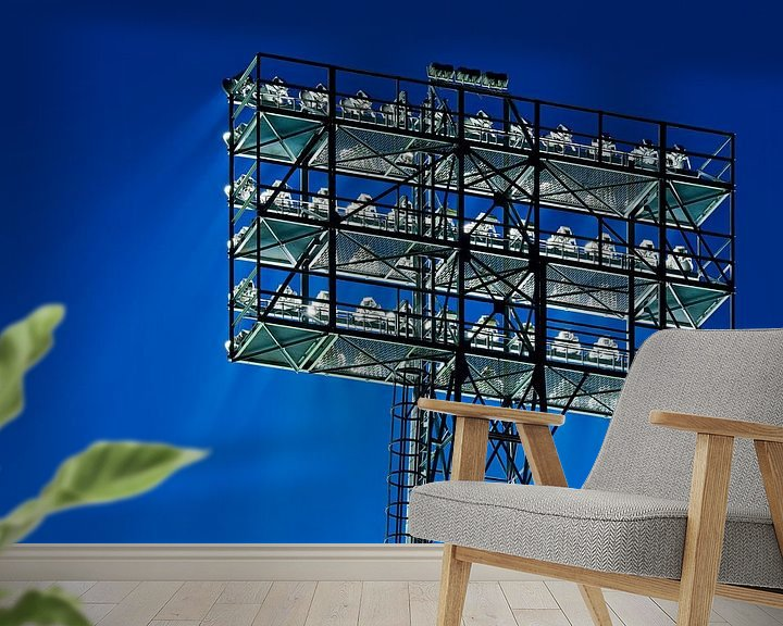 Sfeerimpressie behang: Lichtmast de Kuip van Anton de Zeeuw
