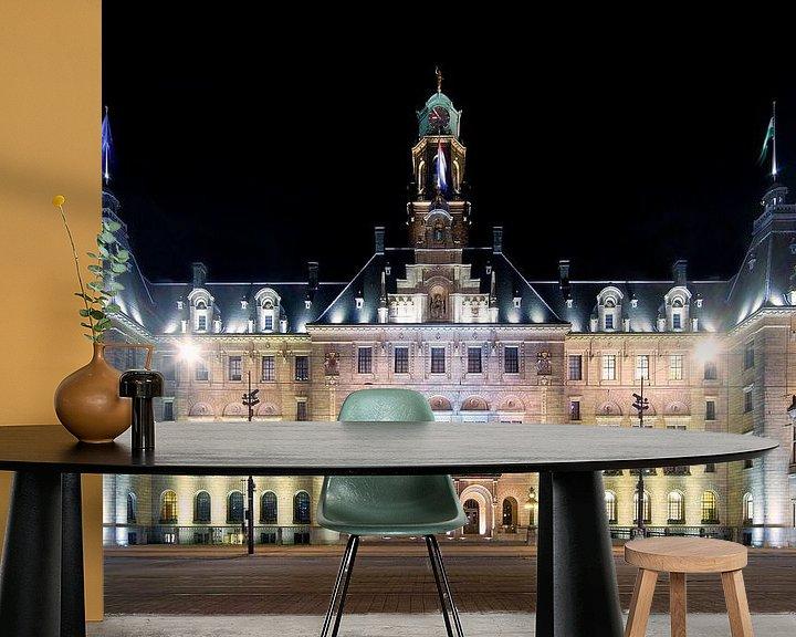 Sfeerimpressie behang: Stadhuis Rotterdam van Anton de Zeeuw