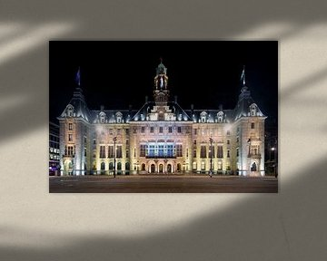 Nuit Photo de l'hôtel de ville de Rotterdam